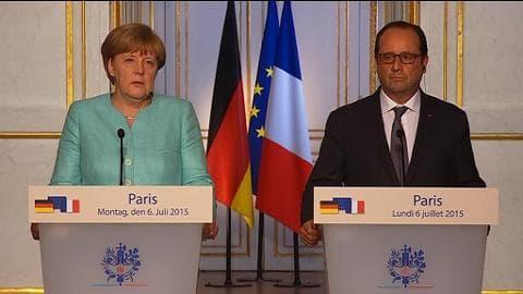 Crise grecque: Hollande, le médiateur, Merkel, l'intransigeante