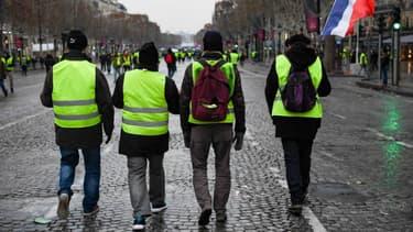 Des gilets jaunes dans Paris (photo d'illustration).