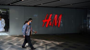 Un magasin H&M à Pékin le 25 mars 2021