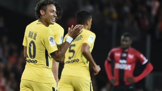 La joie de Neymar après son but