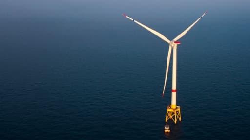 L'Haliade 150 d'Alstom est testée depuis 2012 au large des côtes Ouest françaises.