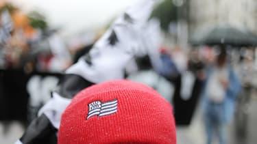 Un Bonnet rouge manifestant à Nantes contre la réforme territoriale, le 28 juin 2014.