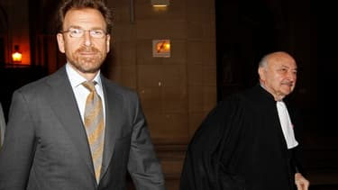 Edgar Bronfman Jr et son avocat Goerges Kiejman en 2010 lors du procès en première instance