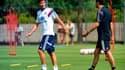 Yoann Gourcuff à l'entraînement avec Hubert Fournier, entraîneur de l'OL