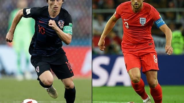 Luka Modric et Harry Kane