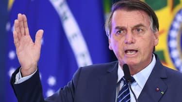 Jair Bolsonaro, le 5 mai 2021 à Brasilia (photo d'illustration)