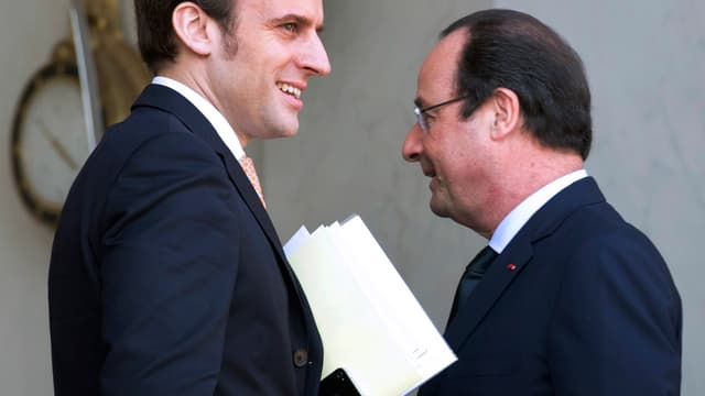 La nomination d'Emmanuel Macron -ici avec François Hollande, à l'Elysée, en mars dernier- au poste de ministre de l'Economie, a fait réagir la classe politique, à droite comme à gauche.