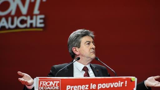 Jean-Luc Mélenchon durant la campagne présidentielle de 2012