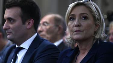Florian Philippot et Marine Le Pen