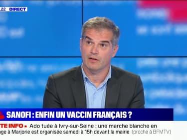 """Olivier Bogillot (Sanofi): """"On a un vaccin qui fonctionne bien, dans 95% à 100% des cas, quelles que soient les catégories d'âge"""""""