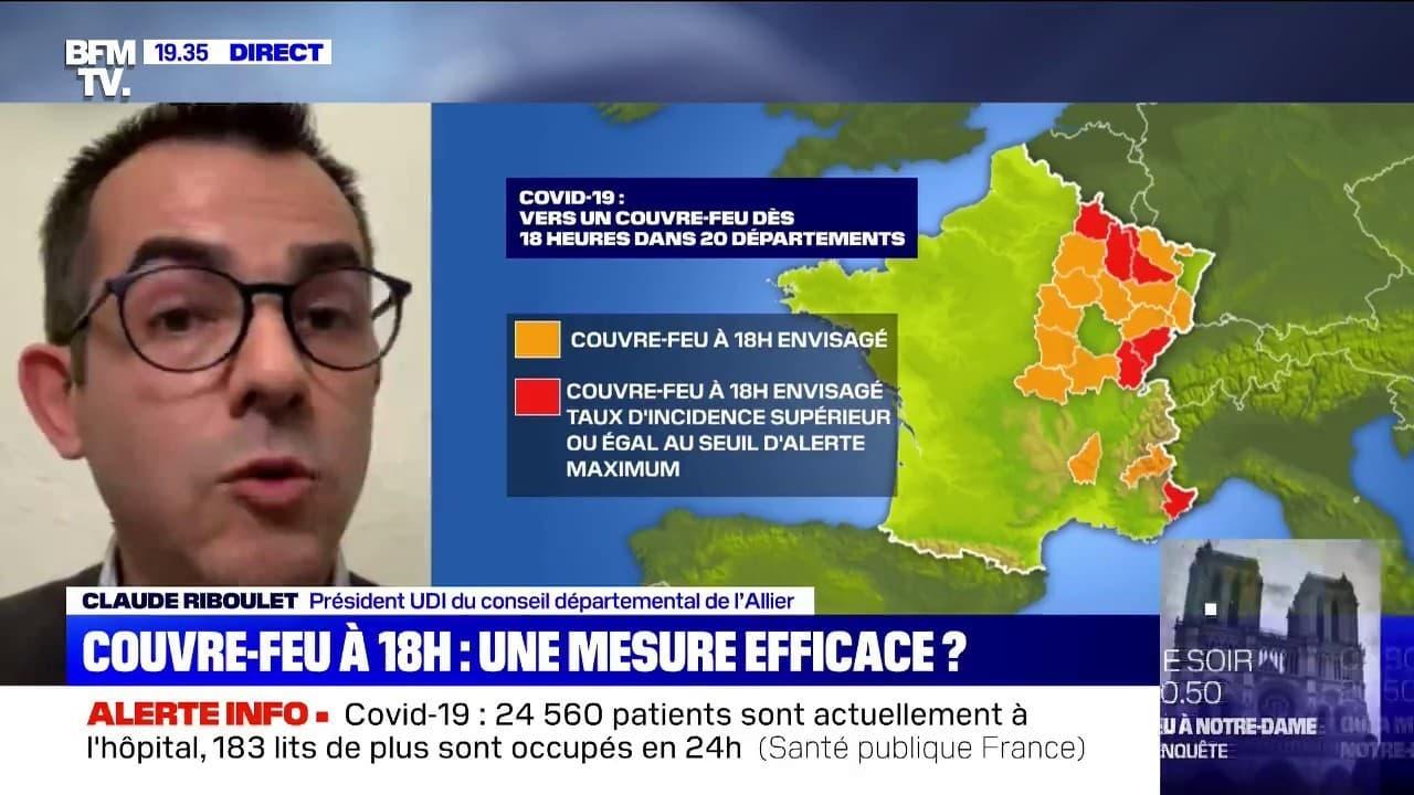 Claude Riboulet Sur Le Couvre Feu A 18h J Attends Que Le Gouvernement Differencie Aussi Les Reponses Pour Le Departement De L Allier