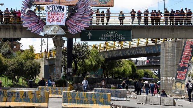 Des partisans de l'ex-président Evo Morales ce mardi.