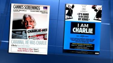 Les affiches des deux documentaires.