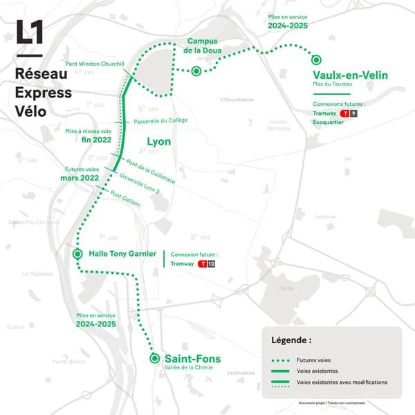 La carte de la première ligne du REV.