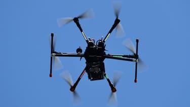 Un drone utilisé pour sécuriser le G7 du 11 avril 2017 à Lucca, en Italie.