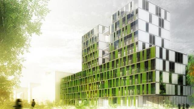 Le projet Symbio 2 lancé par  X-TU Architects vise à cultiver des micro-algues sur les façades des immeubles.