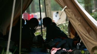 Un camp de scouts à Jambville, le 29 juillet 2006.
