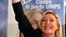 La vice-présidente du Front national, Marine Le Pen, a pris date pour les élections présidentielles de 2012 au soir du second tour des élections régionales marqué par un bon score du parti d'extrême-droite. /Photo prise le 21 mars 2010/REUTERS/Pascal Ross