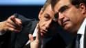 Nicolas Sarkozy et Christian Jacob le 24 septembre à Reims.