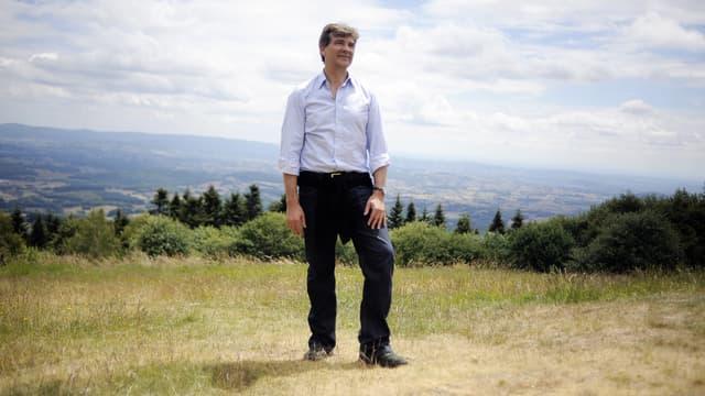 Arnaud Montebourg au Mont Beuvray en 2014