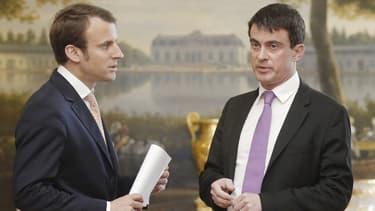 Emmanuel Macron et Manuel Valls, un fauteuil pour deux ?