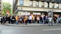 Des salariés de Vivarte manifestent en juin 2015.
