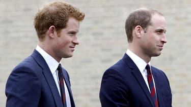 Le prince Harry et le prince William le 20 mai 2013