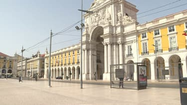 Les rues de Lisbonne désertées à l'heure de l'état d'urgence sanitaire (Photo d'illustration).