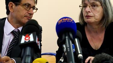 Marie-Rose, la mère de Christelle Blétry, ce vendredi lors d'une conférence de presse.