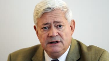 Bruno Gollnisch lors d'une conférence de presse en octobre 2013
