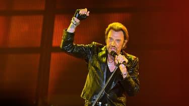 Johnny Hallyday en concert à Bordeaux en juin 2013.