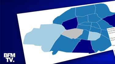 Infographie sur le second tour des élections municipales à Paris.