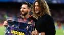 Lionel Messi et Carles Puyol en 2018