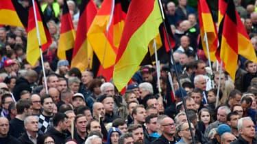 Manifestation d'extrême-droite à Chemnitz.