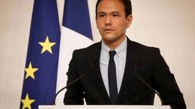 Le secrétaire d'Etat au numérique Cédric O lors d'une conférence de presse à l'Hotel Matignon, le 22 octobre 2020