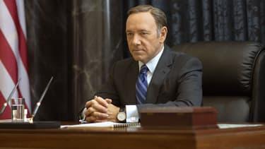 """Kevin Spacey dans la peau de Frank Underwood dans """"House Of Cards"""""""