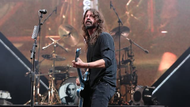 Dave Grohl, leader de Foo Fighters, durant un concert en 2018