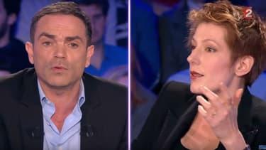 """Yann Moix et Natacha Polony sur le plateau de l'émission """"On n'est pas couché"""""""