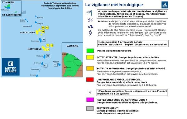 Vigilance météorologique de Météo France