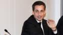 Nicolas Sarkozy au siège de l'UMP en décembre 2014.