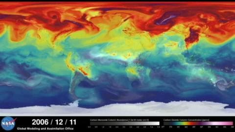 La Nasa modélise la circulation de CO2 sur Terre