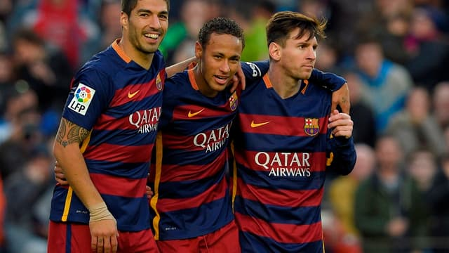 Luis Suarez, Neymar et Lionel Messi