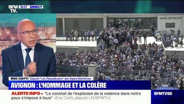 """Éric Ciotti: """"Il n'y a pas de différence entre le quinquennat de François Hollande et celui d'Emmanuel Macron, c'est la même réponse pénale"""""""