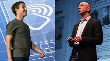 Mark Zuckerberg a pour Facebook des ambitions dans le e-commerce, le royaume de Jeff Bezos et Amazon