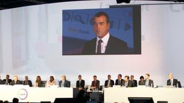 Le co-gérant du groupe Arnaud Lagardère en assemblée générale