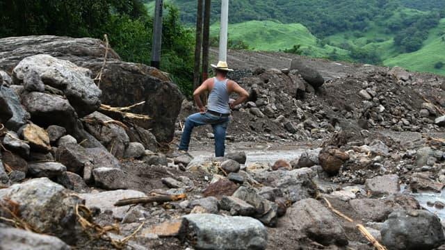 Les dégâts de la tempête Nate au Honduras.
