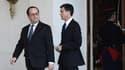 François Hollande et Manuel Valls le 17 février 2016 à l'Elysée.