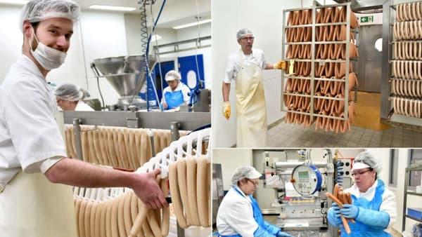 Volkswagen produit environ 18.000 saucisses par jour à Wolfsburg (Allemagne).