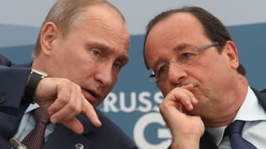 François Hollande et Vladimir Poutine au G20 de Saint-Petersbourg en septembre 2013.