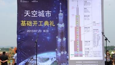 Malgré la cérémonie en grande pompe du lancement de la construction de Sky City, les travaux sont interrompus ce 25 juillet.